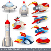 Alien aircraft — Stock Vector