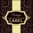 Stock Vector: Vintage label
