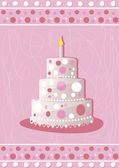 Sweet pink cake — Vector de stock