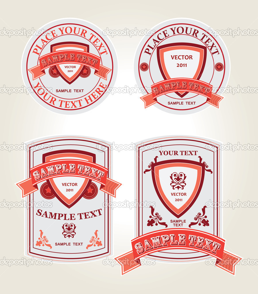 Set of four vintage labels — Stock Vector #7276880