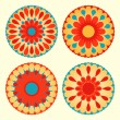 Royalty-Free Stock Vektorfiler: Floral mandalas