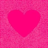 Doodle hjärta — Stockvektor