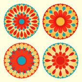 Floral mandalas — Stock Vector