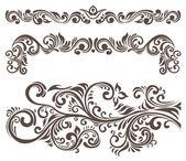 Floral motifs — Stock Vector