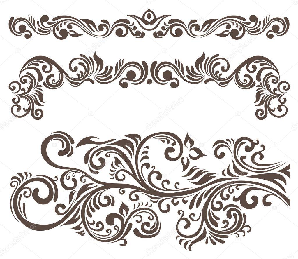 floral motifs stock vector zsooofija 7367761. Black Bedroom Furniture Sets. Home Design Ideas