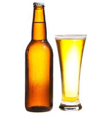 Beer isolated on white — Stock Photo