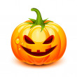 Halloween pumpkin face - Stock Vector