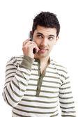 Realizar una llamada telefónica — Foto de Stock