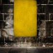 Yellow grunge background - Stock Photo