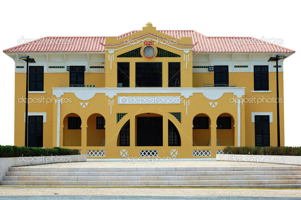 The preserved colonial construction in Macau city — Stock Photo #7306627