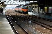 Train at station — Stock Photo
