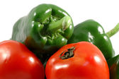 Papricas and tomatoes — Stock Photo