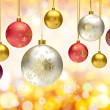 Christmas bauble balls — Stock Photo