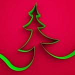 árvore de fita verde — Foto Stock