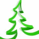 Christmas tree from ribbons — Stock Photo
