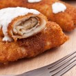 Pancake whit chicken roll — Stock Photo #6870803