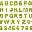 Green leaf alphabet — Stock Photo