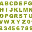 Stock Photo: Green leaf alphabet