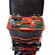 Open tool box with tools - Foto Stock