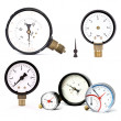 Pressure meters isolated - Stock Photo