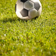 Soccer ball on grass — Stock Photo #6871115