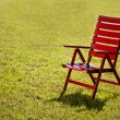 Garden chair on grass — Stock Photo