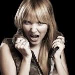 Screaming woman — Stock Photo