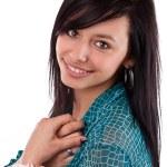 Happy woman smiling — Stock Photo