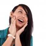 překvapení žena — Stock fotografie