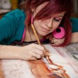 Stock Photo: Young female artist
