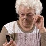 Старая женщина — Стоковое фото