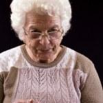oudere vrouw — Stockfoto