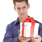 hombre con regalo — Foto de Stock