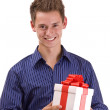 Man with gift — Stock Photo #6871500