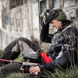 Foto Stock: Paintball player