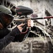 Paintball player — Stock fotografie #6871551
