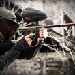 Foto de Stock  : Paintball player