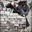 Paintball player — Stock fotografie