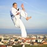 Karate outdoor — Stock Photo #6871772