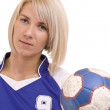 Foto Stock: Handball player