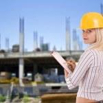 Female architect — Stock Photo