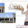 Foto Stock: Female architect