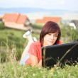 Woman using laptop — Stock Photo #6872153