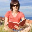 Woman reading book — Stock Photo #6872156