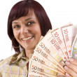 Woman holding money — Stock Photo #6872176