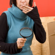 Woman and box — Stock Photo #6872271