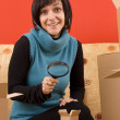 Woman and box — Stock Photo #6872285