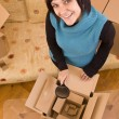Woman and box — Stock Photo #6872310