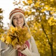 Woman in autumn park — Stock Photo #6872321