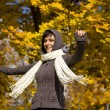 Woman in the autumn park — Stock Photo #6872364